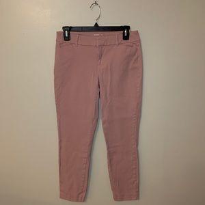 Old navy pixie pants size 6 blush pink